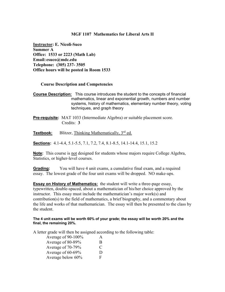 mgf mathematics for liberal arts ii