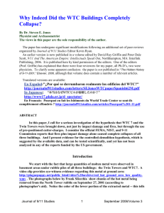 Word Document - Journal of 9/11 Studies
