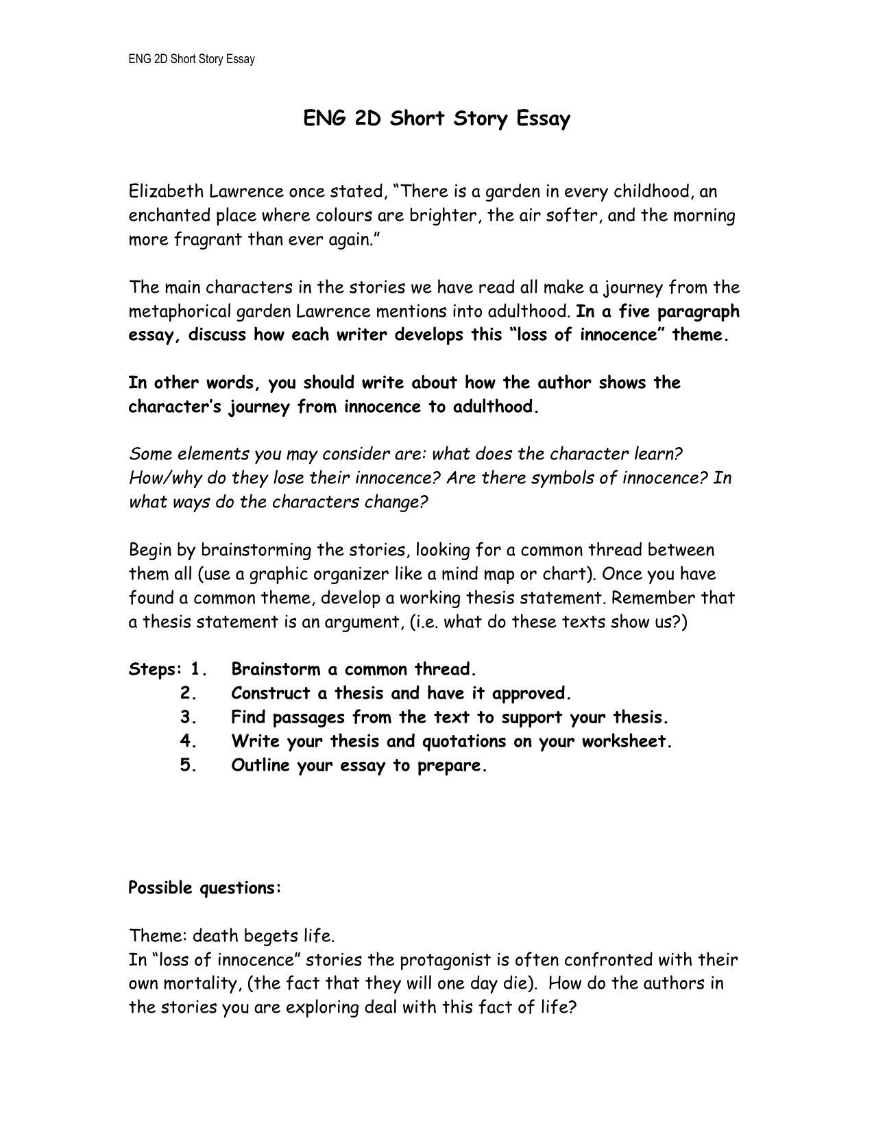 Worksheets Short Story Questions extended essay guide 2010 lady of shalott help case study stories essays english class minor characters some write an questions online term paper a poem and other short stories