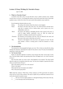 Lecture 12 Essay Writing (3): Narrative Essays