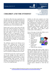 85 Children & the Internet