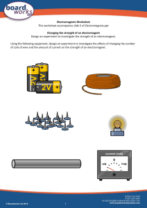 Electromagnets Worksheet
