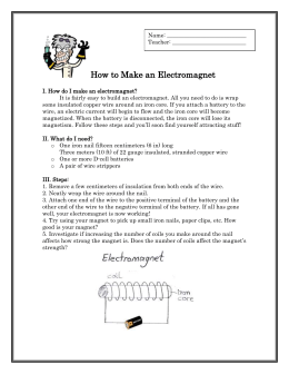 Activity: How to Make an Electromagnet