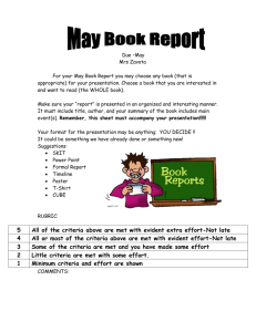 May Book Report