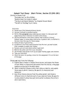 Subunit Test Essay: Short Fiction, Section II (242-281)