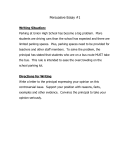 Persuasive Essay: Parking Issue