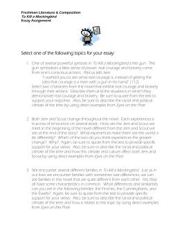 To kill a mockingbird essay questions