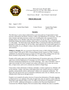 Press Release - Walworth County