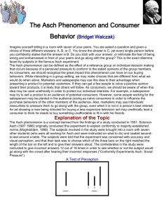 The Asch Phenomenon and Consumer Behavior