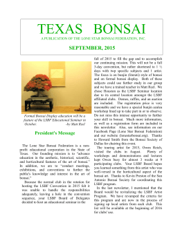 August LSBF Newsletter - The Lone Star Bonsai Federation