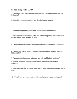 Macbeth Discussion Questions – Act IV