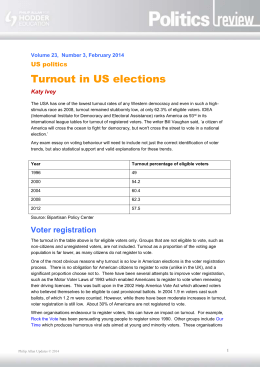 Turnout in US elections