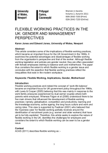 Flexible Working Practices in the UK: Gender and Management