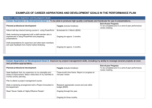 Examples of career aspirations and development goals