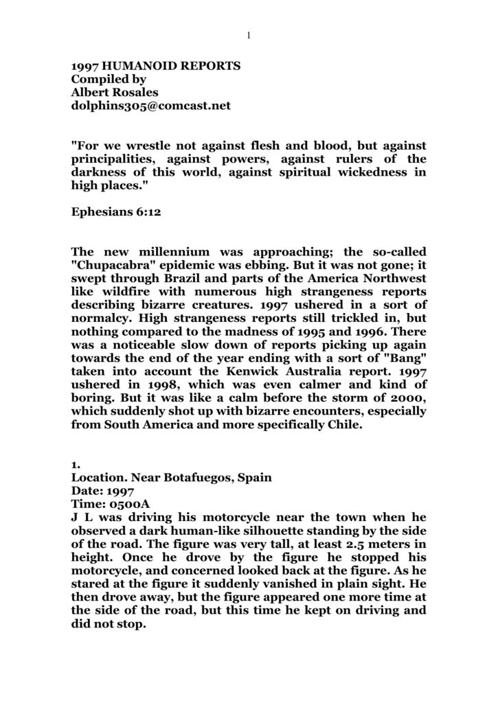 Humanoids Reports 1997 2007c