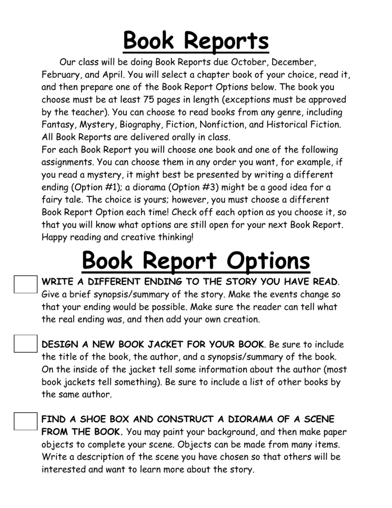 Do book reports have paragraphs