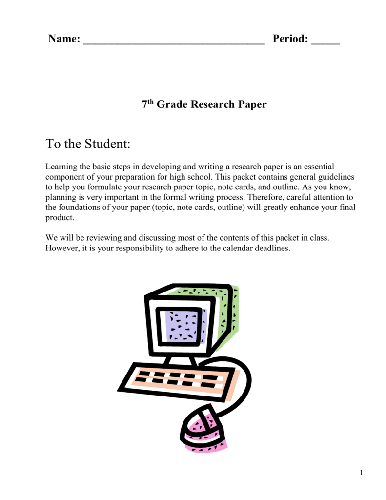 7th grade research paper topics