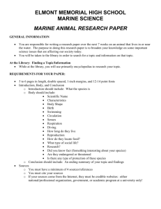 marine animal research paper - Sewanhaka Central High School