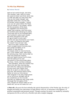 andrew marvell to his coy mistress