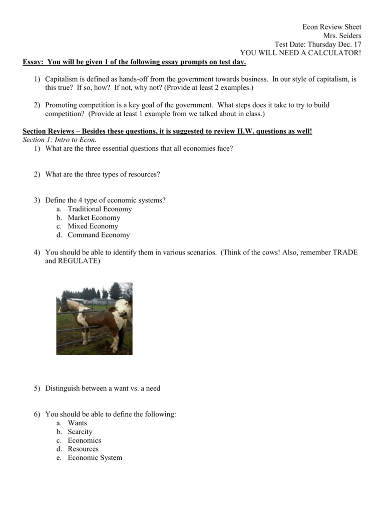 econ review sheet