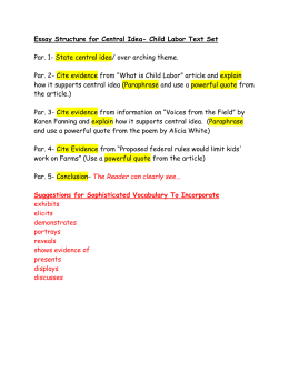 Essay Structure for Central Idea- Olympian Text Set