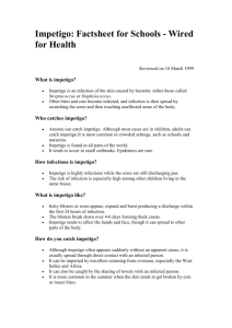 Impetigo: Factsheet for Schools