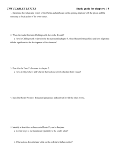 THE SCARLET LETTER QUIZ #1