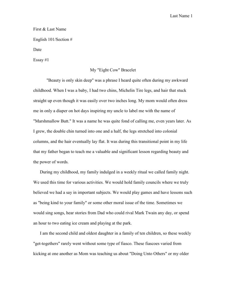 Example of a Personal Narrative Essay