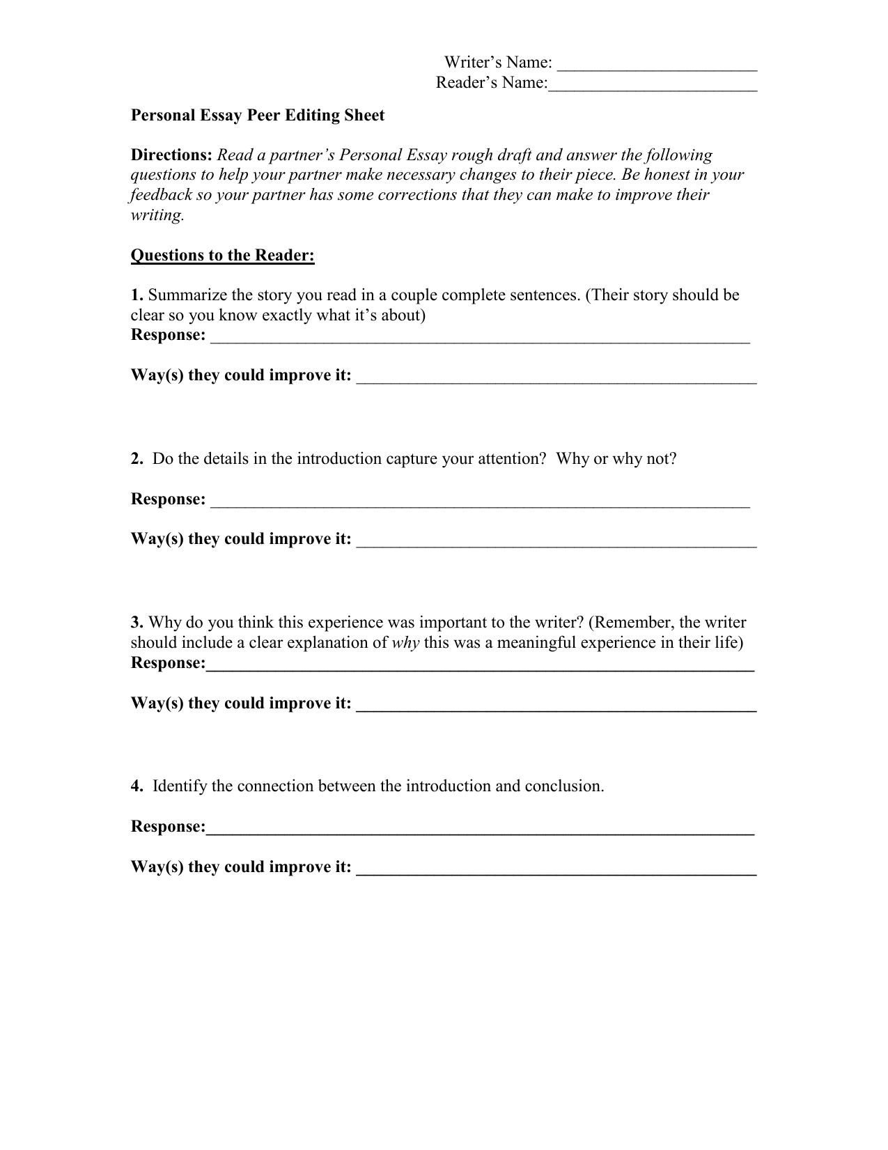 narrative essay peer edit sheet Alfred health nursing values essay how to write references after an essay improper garbage disposal essay writer virtual reality research paper quilling business valuation research paper british essay writer reviews of london write introduction personal essay research paper on agile manufacturing pdf words used college essay south africa essay.
