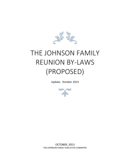 The johnson family reunion By-Laws (Proposed)