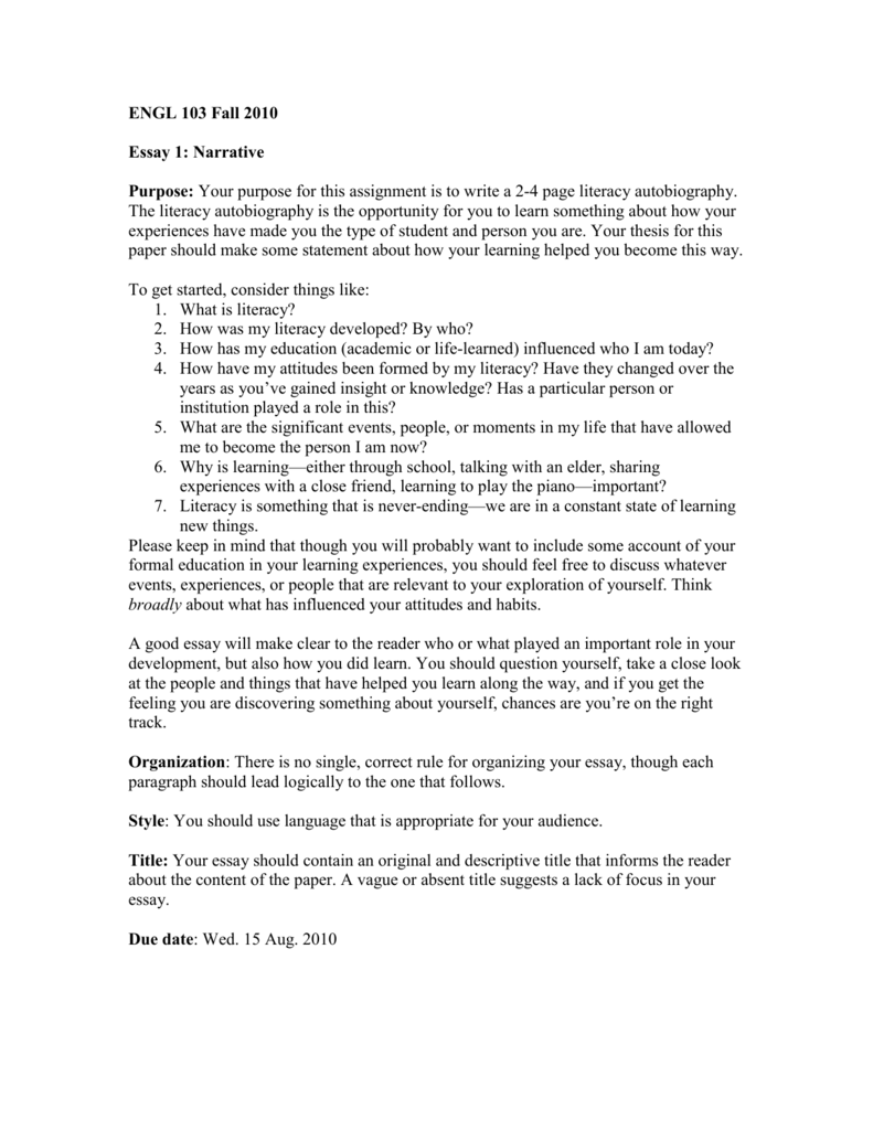Argumentative Essay Topics For High School  Writing High School Essays also Should The Government Provide Health Care Essay Paper One Narrativeliteracy Autobiography The Kite Runner Essay Thesis