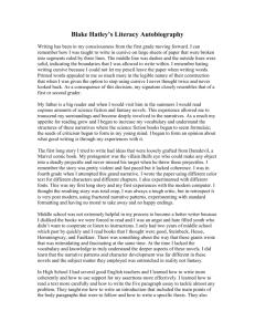 personal narrative essay help