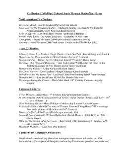 Book Titles for Civilization Study 2011
