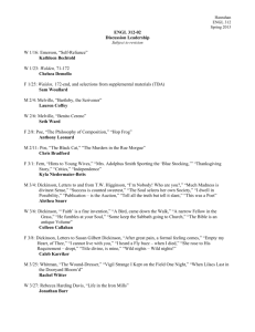 ENGL 312-02: Discussion Leadership Schedule