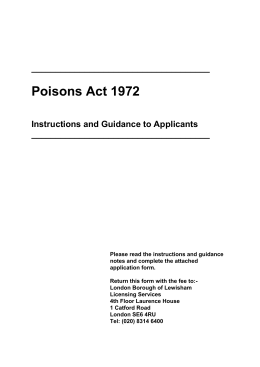 Poisons Act 1972