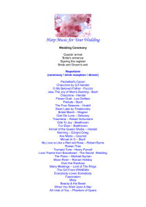 Harp Music for Your Wedding Wedding Ceremony Guests` arrival