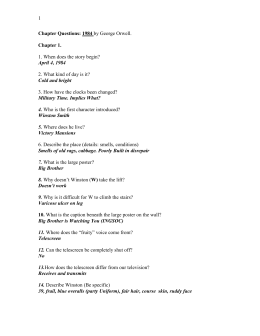 1984 chapter questions Ap literature reading questions 1984 by george orwell directions: answer each in complete sentences on notebook paper you may need to use more than one sentence for some of the questions.