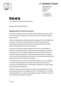 Full news release - The Open University