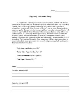 multiple perspectives in history the constitution opposing viewpoints essay