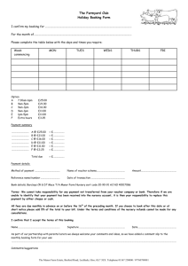 The Farmyard Club Holiday Booking Form I confirm my booking for
