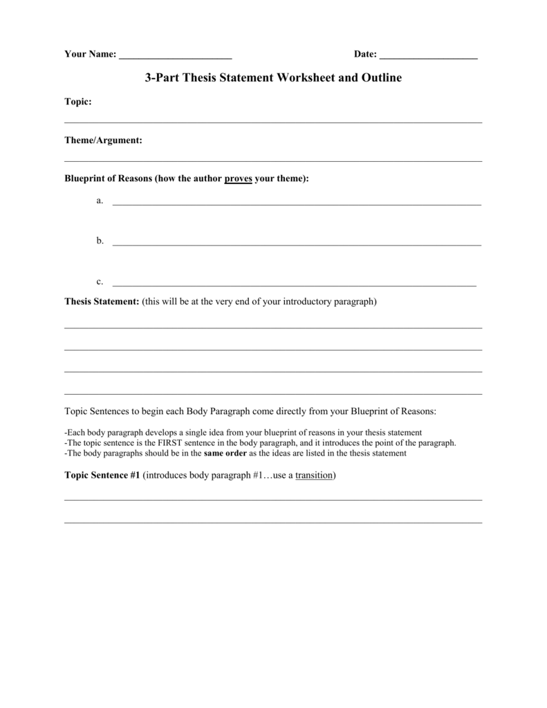 "writing thesis statements worksheets Practice developing thesis statements with this writing introduction worksheet students will learn how to improve their writing with a strong, attention grabbing thesis statement this activity helps build writing skills by asking students to create a statement for the topics provided, such as: ""what was the greatest challenge."