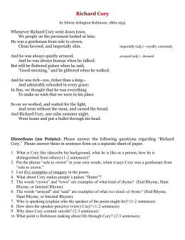 richard cory text