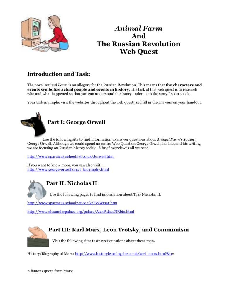 The Russian Revolution and Animal Farm