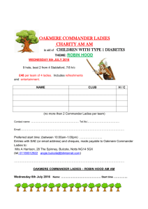 Entry Form - Oakmere Park Golf Club