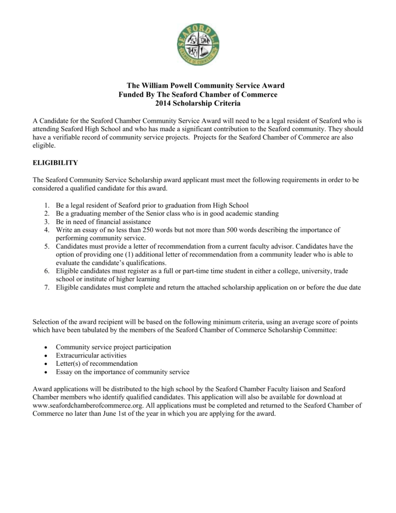 Letter Of Community Service from s3.studylib.net