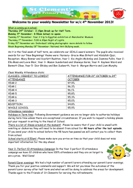 your Behaviour and Attendance Matters Newsletter for Summer 2 2013