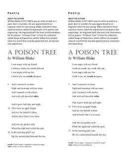 a poison tree poem explanation