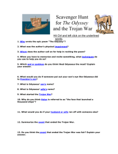 Scavenger Hunt for The Odyssey