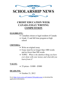 Credit Education week Essay Contest.doc