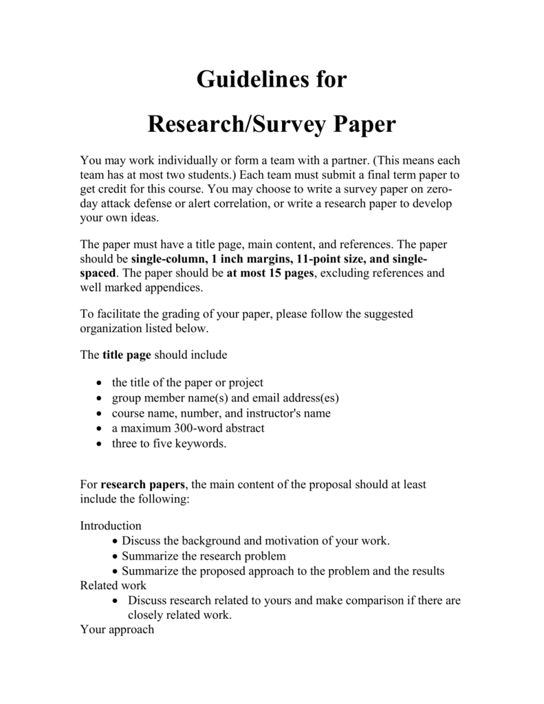 include survey research paper Writing a method section it is the part of the proposal or research paper that describes the methods used to collect the measures include the following elements.